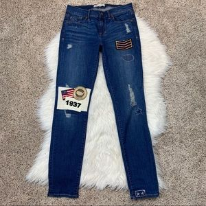 Madewell Patch Military American Flag Skinny Jeans